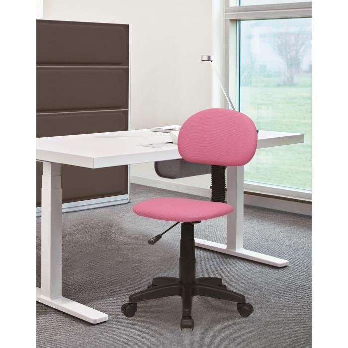aucune pencil chaise dactylo de bureau en tissu sur roulette rose 381628. Black Bedroom Furniture Sets. Home Design Ideas