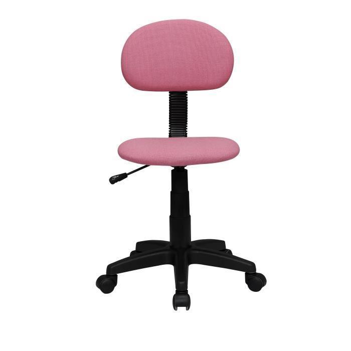 Aucune pencil chaise dactylo de bureau en tissu sur - Fauteuil de bureau rose ...