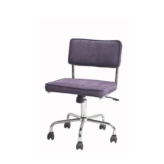aucune sevilla chaise de bureau violet pieds chrome 464204. Black Bedroom Furniture Sets. Home Design Ideas