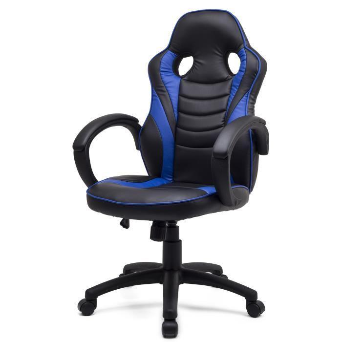 sportline fauteuil de bureau inclinable en m tal simili. Black Bedroom Furniture Sets. Home Design Ideas