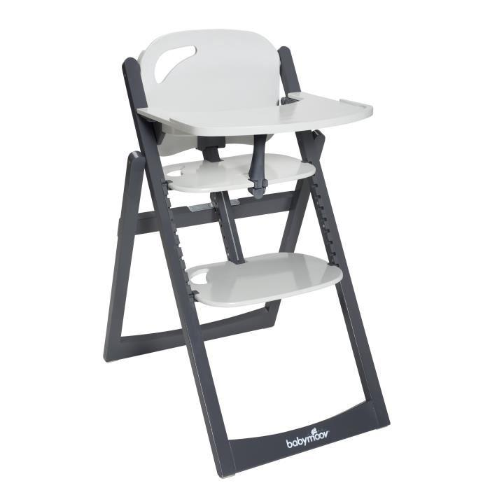 babymoov babymoov chaise haute evolutive light wood zinc aluminium 292249. Black Bedroom Furniture Sets. Home Design Ideas