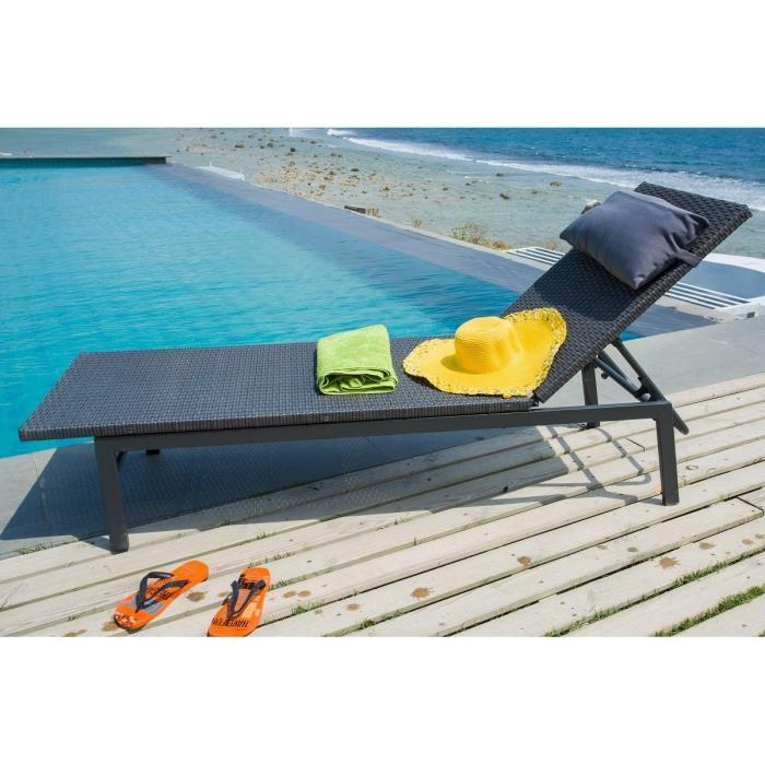 aucune bain de soleil alu resine tressee multiposition. Black Bedroom Furniture Sets. Home Design Ideas