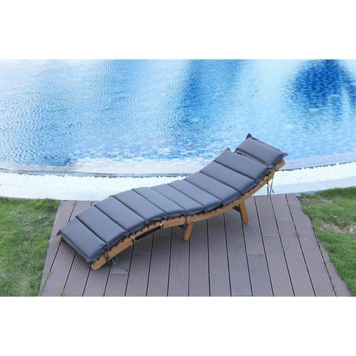 chaise longue transat bain de soleil mid. Black Bedroom Furniture Sets. Home Design Ideas