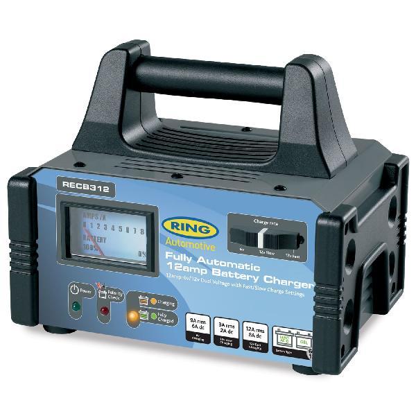 Chargeur de batterie - 6/12 V - 12 A - 180 AH - Automatique - Modele pro