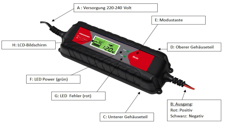 Absaar chargeur intelligent atek 4000 avec ecran lcd 4 a 6 12 v 228181 - Chargeur de piles intelligent ...