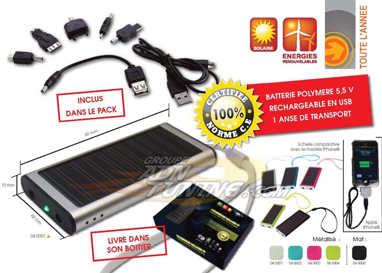 chargeur solaire ip
