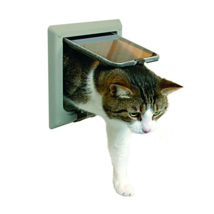 Trixie trixie chatiere 4 positions avec tunnel pour chat - Chatiere pour chat ...