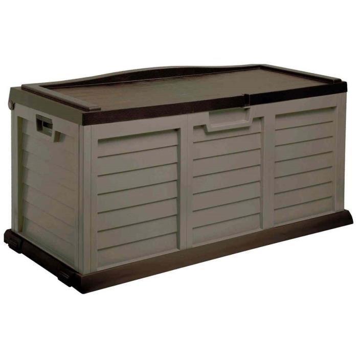 aucune coffre de jardin en r sine 270l moka 364017. Black Bedroom Furniture Sets. Home Design Ideas
