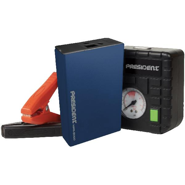 Coffret Assistance Booster 6000mA/ gonfleur/ chargeur tel/ lampe led MPB6000 - Promo -