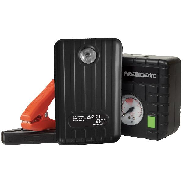 Coffret Assistance Booster 8800mA/ gonfleur/ chargeur tel/ lampe led MPB8800