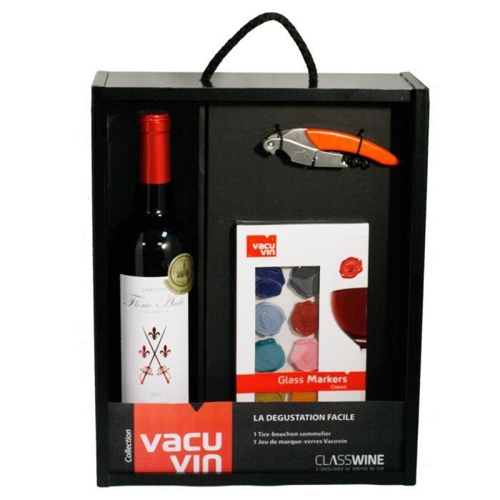 class wine coffret vacuvin la degustation facile 237864. Black Bedroom Furniture Sets. Home Design Ideas