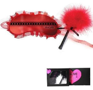 Coffrets BDSM soft Secret Play - Coffret Loup et Plumeau Rouge