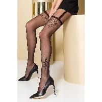 Collants Max Passion - Collant Noir Effet Porte Jarretelles TI0108 T 3/4