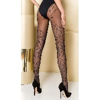 Collants Max Passion - Collant Noir et gris TI105 T 3/4