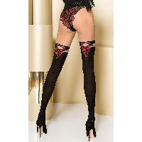 Collants Max Passion - Collant Noir et Rouge TI104 T 3/4