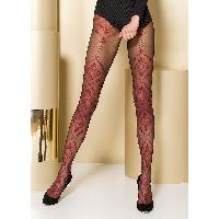 Collants Max Passion - Collant Noir et Rouge TI105 T 1/2
