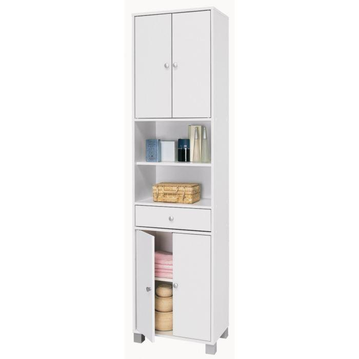 aucune bikini colonne 2 2 portes 1 tiroir 2 niches blanc 277733. Black Bedroom Furniture Sets. Home Design Ideas