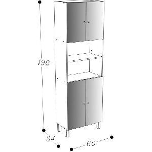 Aucune corail colonne de salle de bain 60 cm blanc 263584 for Colonne salle de bain 60 cm