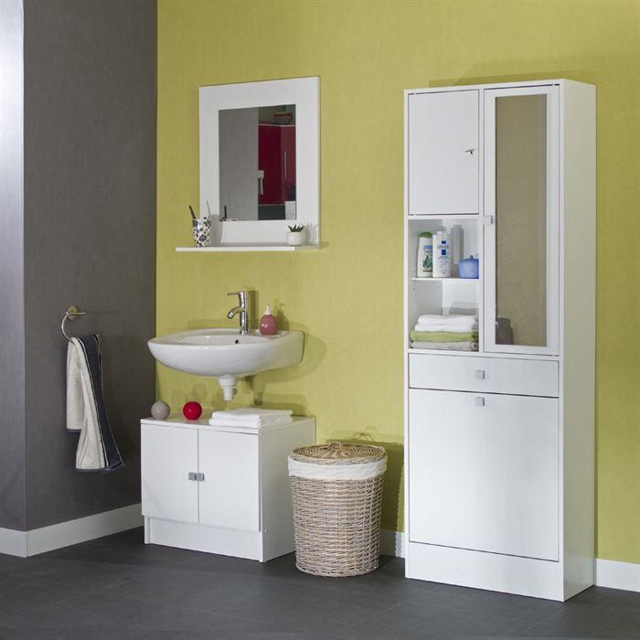 aucune galet armoire bac a linge 63x181 cm blanc 264548. Black Bedroom Furniture Sets. Home Design Ideas