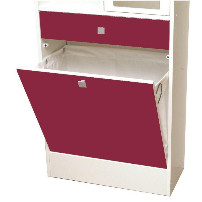 Aucune galet armoire bac a linge 63x181 cm blanc et for Bac salle de bain