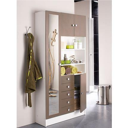 aucune galet armoire salle de bain 4 portes 5 tiroirs 265719. Black Bedroom Furniture Sets. Home Design Ideas