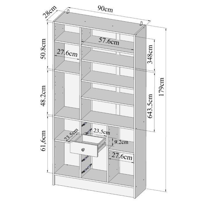 Aucune galet armoire salle de bain 4 portes 5 tiroirs 265719 for Colonne salle de bain 4 portes