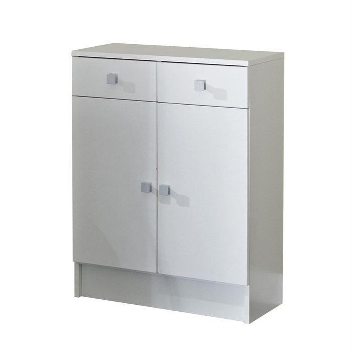 Aucune galet meuble sdb 60x81cm blanc 242938 for Armoire de sdb