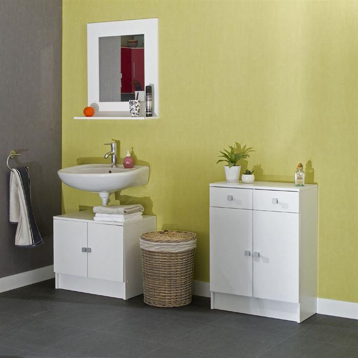 aucune galet meuble sdb 60x81cm blanc 242938. Black Bedroom Furniture Sets. Home Design Ideas