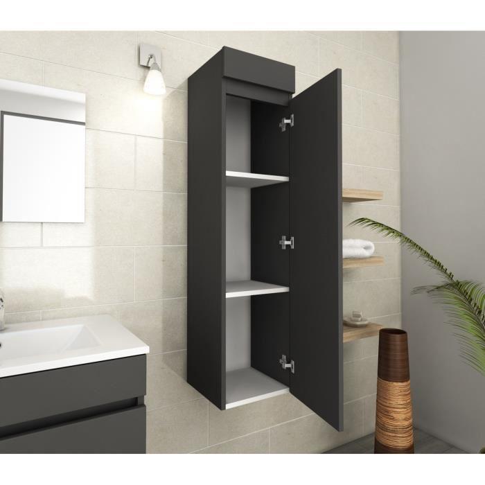 aucune lana colonne de salle de bain 30 cm gris mat 319915. Black Bedroom Furniture Sets. Home Design Ideas