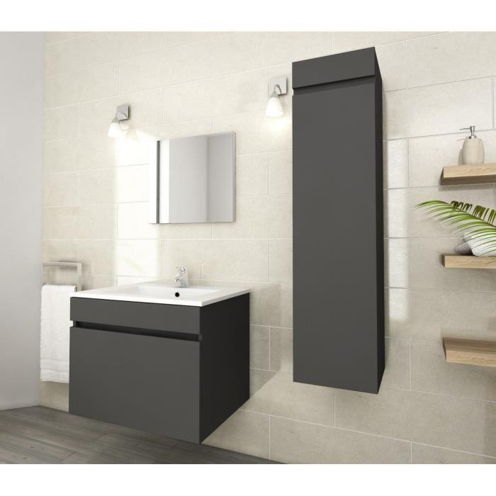 aucune lana colonne de salle de bain 30 cm gris mat 319915. Black Bedroom Furniture Sets. Home Design Ideas