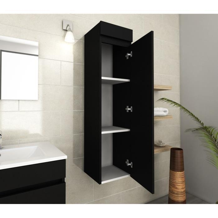 aucune lana colonne de salle de bain 30 cm noir mat 319916. Black Bedroom Furniture Sets. Home Design Ideas
