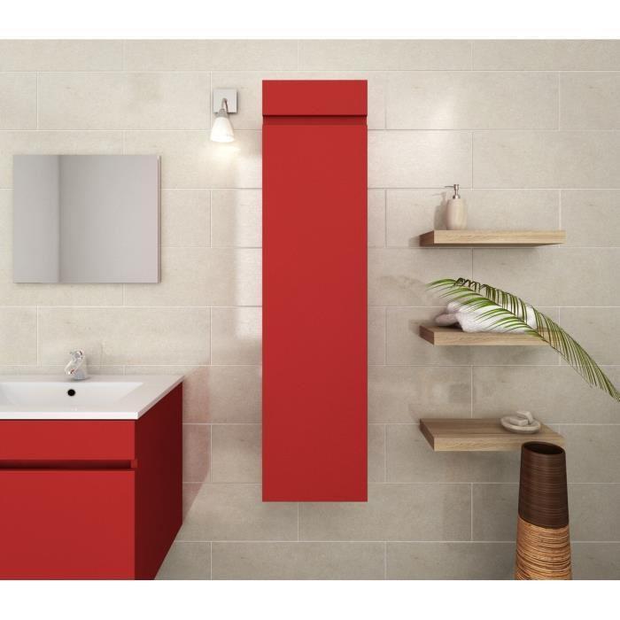 aucune lana colonne de salle de bain 30 cm rouge mat. Black Bedroom Furniture Sets. Home Design Ideas