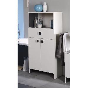 Aucune rangement horizon l 59 cm decor blanc 238064 - Articles de salle de bain ...