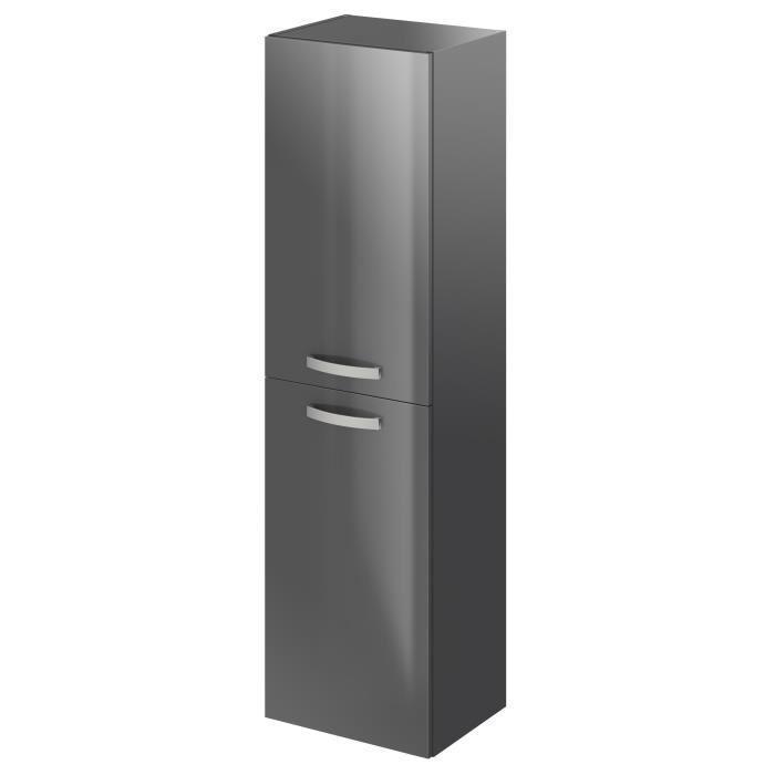 stella colonne de salle de bain l 40 cm laqu gris brillant 493591. Black Bedroom Furniture Sets. Home Design Ideas