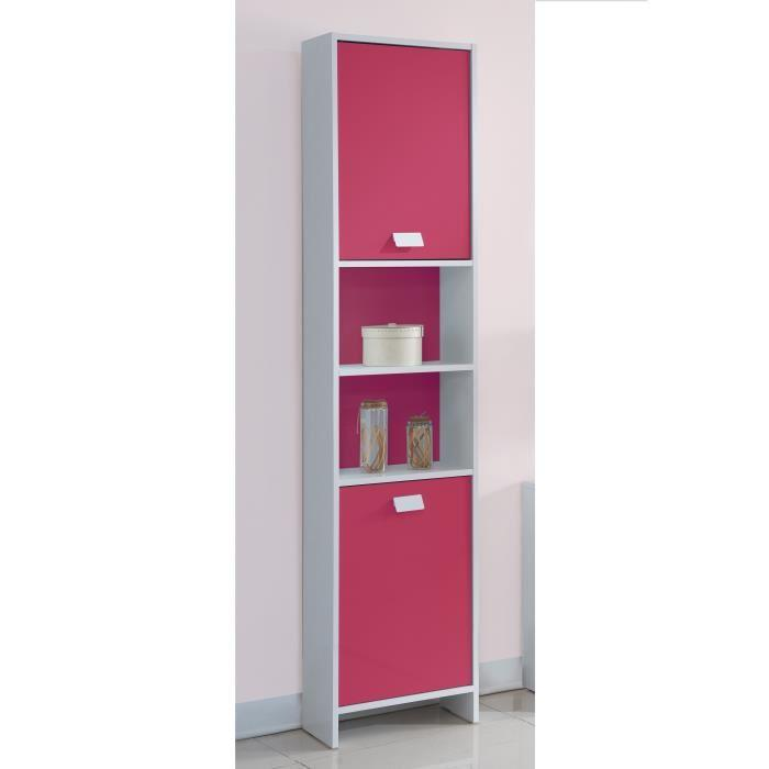 aucune top colonne de salle de bain 40 cm blanc et fuchsia 380762. Black Bedroom Furniture Sets. Home Design Ideas
