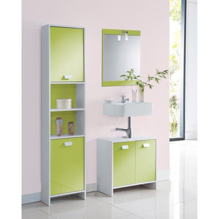 aucune top colonne de salle de bain 40 cm blanc et. Black Bedroom Furniture Sets. Home Design Ideas