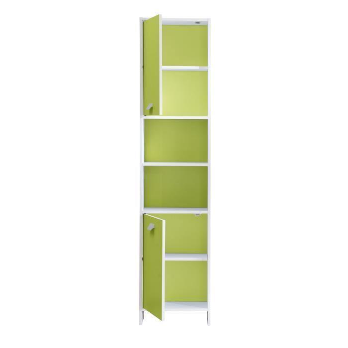 aucune top colonne de salle de bain 40 cm blanc et vert 380760