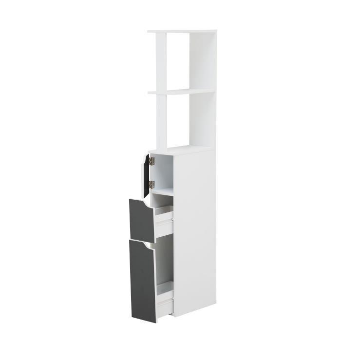 aucune top colonne de toilette 15 cm blanc et gris 390594. Black Bedroom Furniture Sets. Home Design Ideas