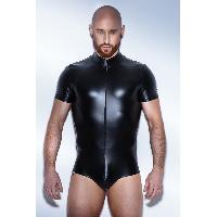 Combinaison Noir Handmade - Body Powerwetlook H045 - XL