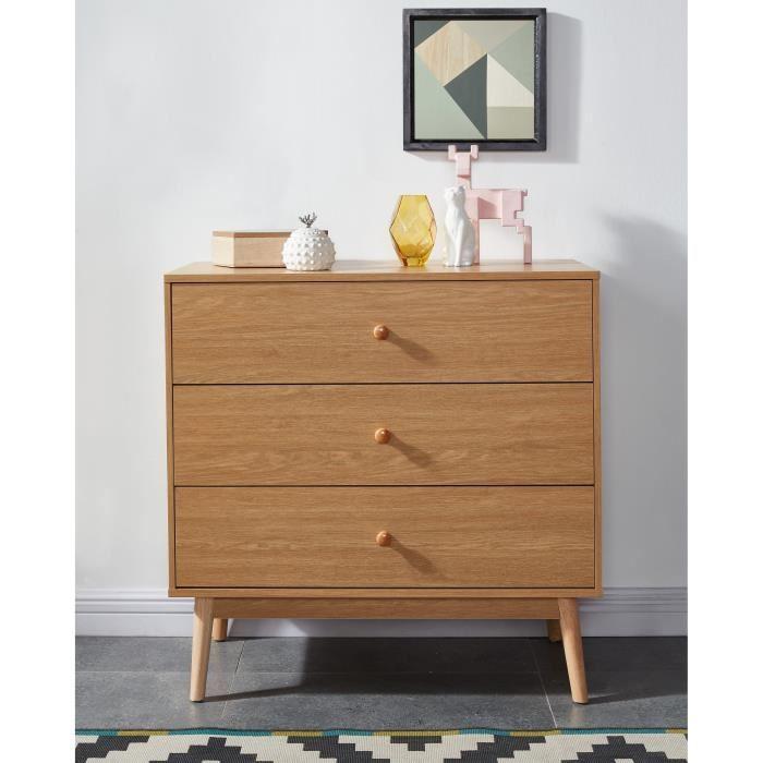 aucune emiliette commode de chambre 80 cm d cor chene. Black Bedroom Furniture Sets. Home Design Ideas