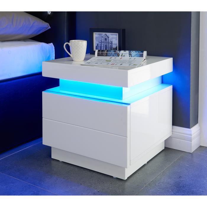aucune flash chevet led 40 cm led multicolore blanc brillant 382499. Black Bedroom Furniture Sets. Home Design Ideas