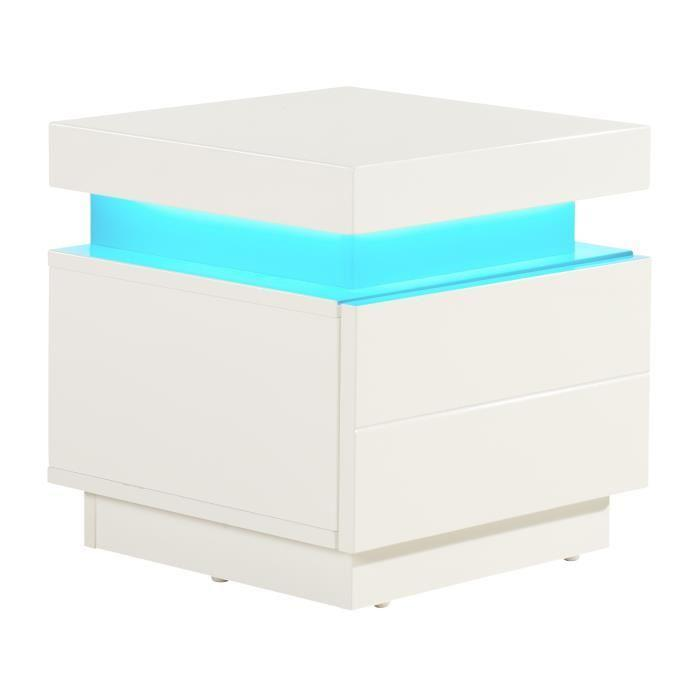 aucune flash chevet led 40 cm led multicolore blanc. Black Bedroom Furniture Sets. Home Design Ideas
