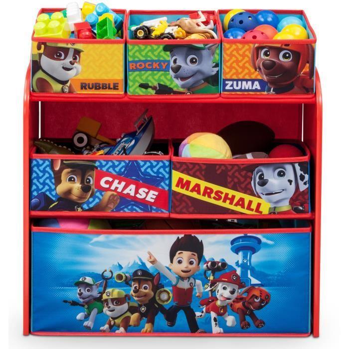 la pat patrouille meuble de rangement enfant jouets 6 bacs 300309. Black Bedroom Furniture Sets. Home Design Ideas
