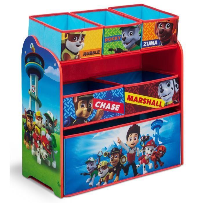 La pat patrouille meuble de rangement enfant jouets 6 bacs - Rangement jouet chambre enfant ...