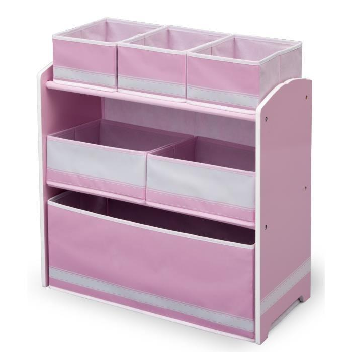 delta children meuble de rangement enfant jouets 6 bacs rose 238102. Black Bedroom Furniture Sets. Home Design Ideas