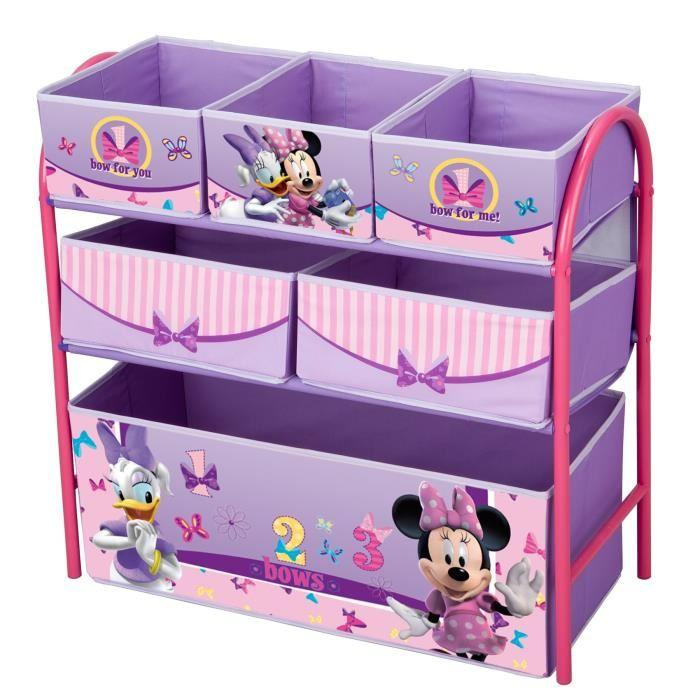 delta children minnie meuble de rangement enfant jouets 6 bacs 238107. Black Bedroom Furniture Sets. Home Design Ideas