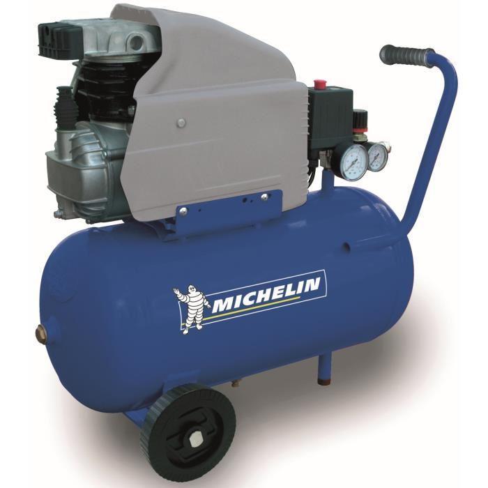 Michelin michelin compresseur avec cuve 24 litres 2 cv for Compresseur garage automobile