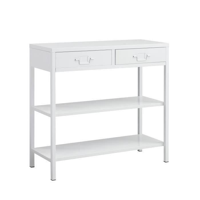 aucune camden console 90 cm blanc laqu 336890. Black Bedroom Furniture Sets. Home Design Ideas