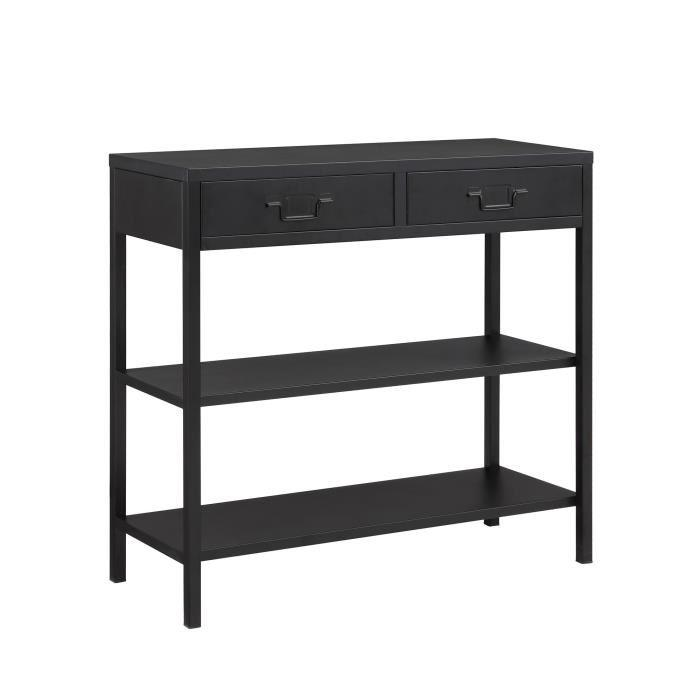 aucune camden console 90 cm noir laque 336891. Black Bedroom Furniture Sets. Home Design Ideas