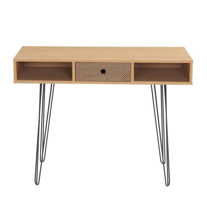 aucune colette console 100 cm d cor chene et impression vintage 414283. Black Bedroom Furniture Sets. Home Design Ideas